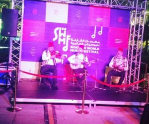 Arabic band playing eastern music during the festival