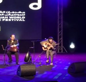 Nasser Shamaa the international Oud player in his performance