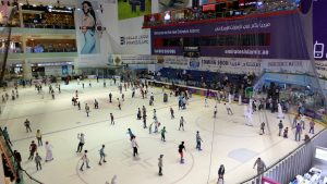 Overview of the ice skating rink.