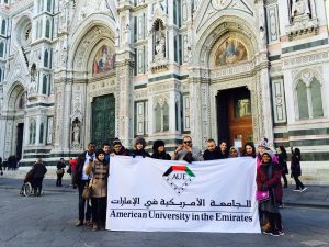 Rohilah Nasir Ahmad trip to Italy with AUE students